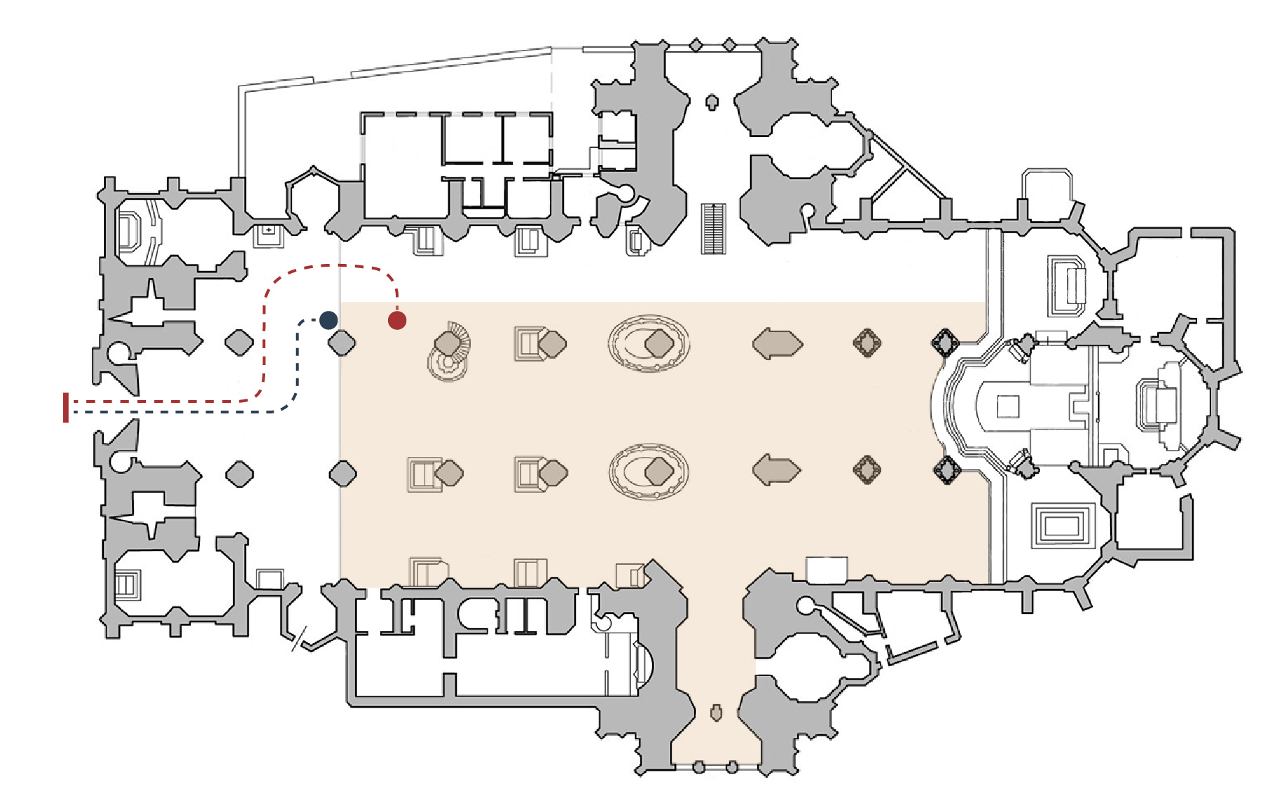 Floor plan of the cathedral