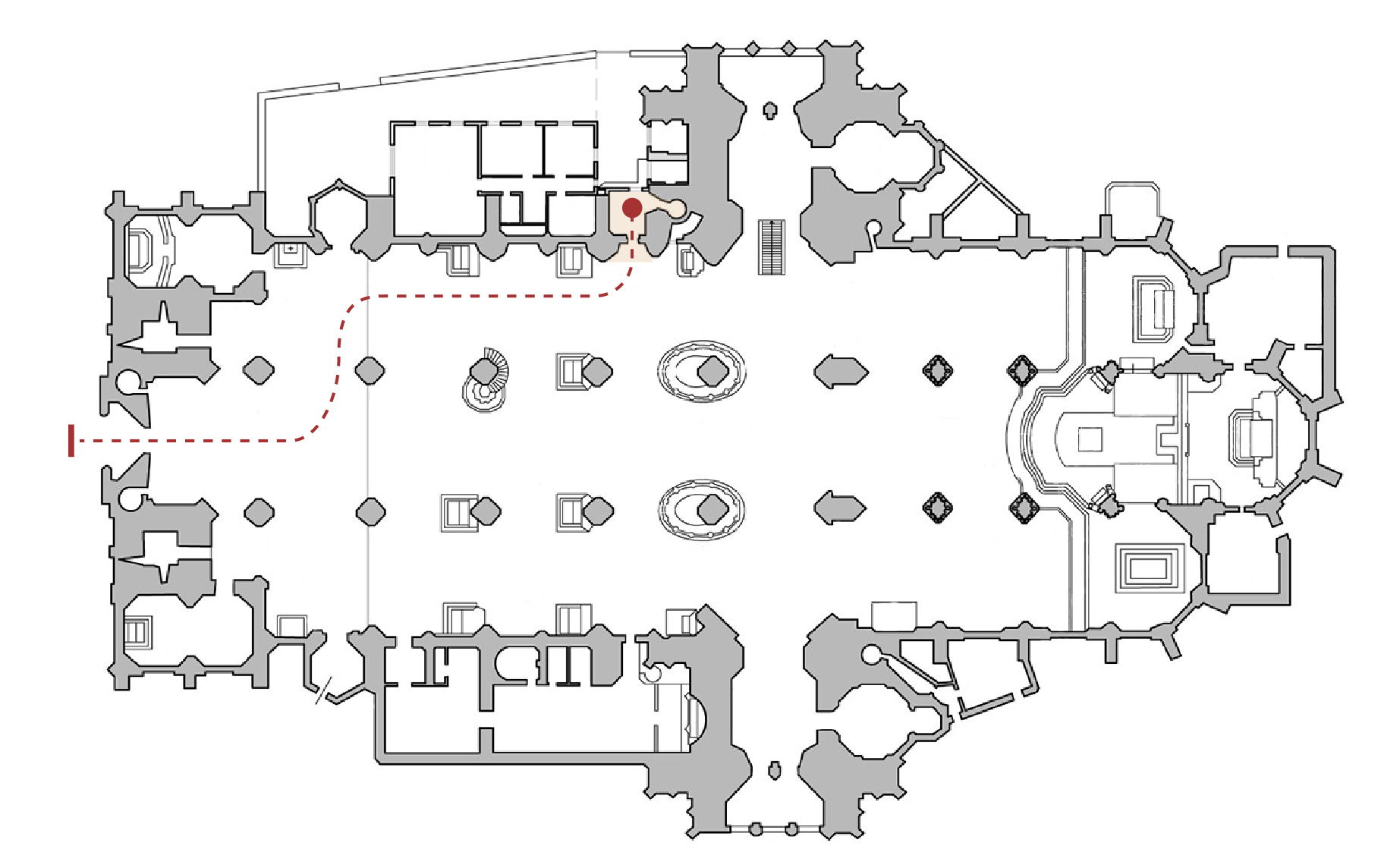 Floor plan of the North Tower
