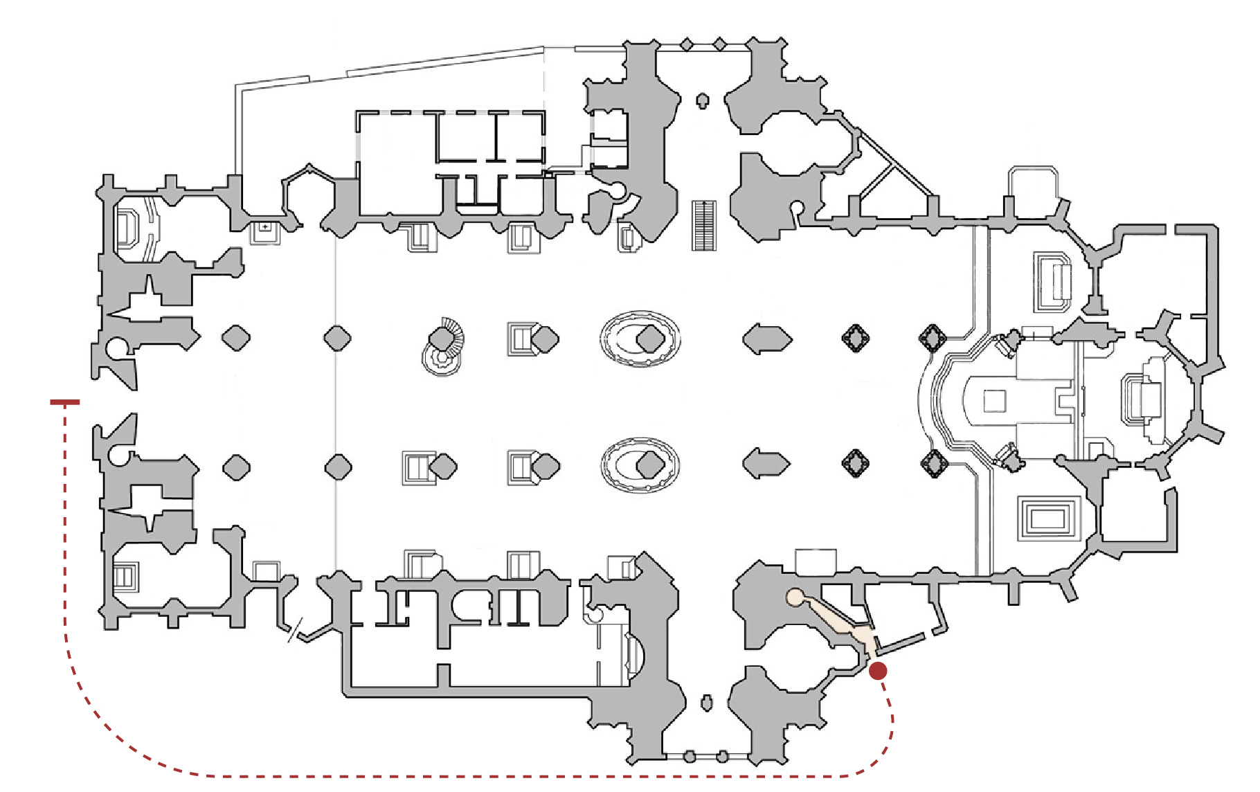 Floor plan of the South Tower