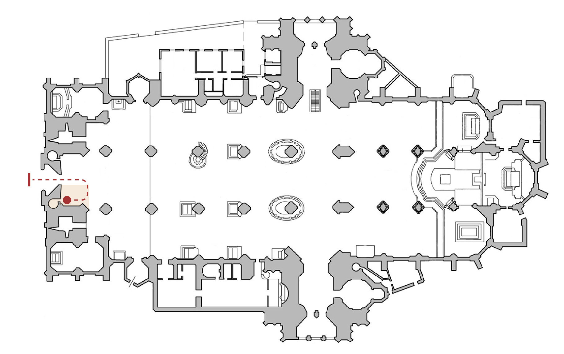 Floor plan of the Cathedral treasure